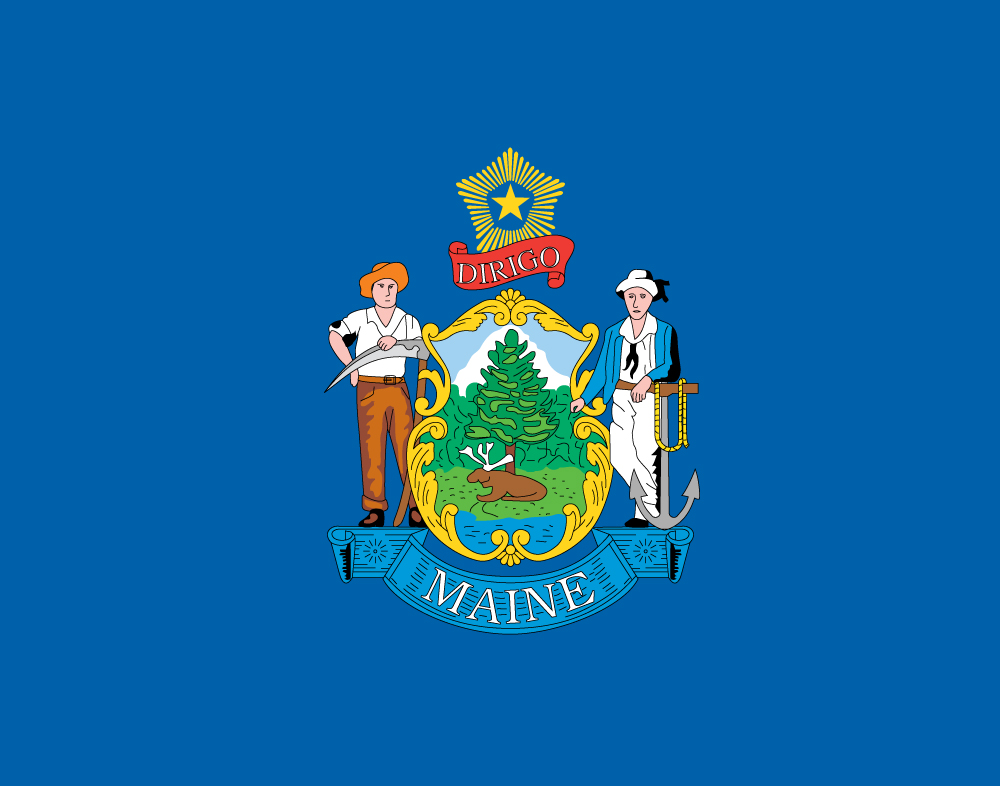 Maine Flag  Flag of Maine    US State VuzzsCFH